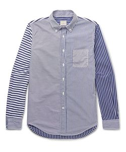 Wooster + Lardini | Slim-Fit Button-Down Collar Striped Cotton Shirt