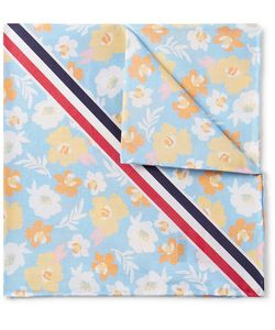 Thom Browne | Striped Print Cotton Pocket Square