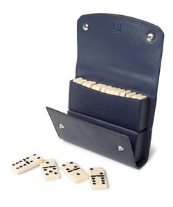 Dunhill | Boston Full-Grain Leather Domino Set