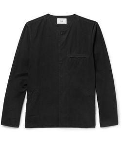 Folk | Slim-Fit Collarless Cotton-Canvas Shirt
