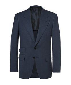 Tom Ford   Shelton Wool And Silk-Blend Blazer