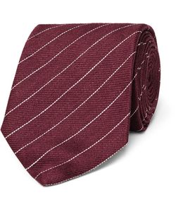 Dunhill | 8cm Striped Linen And Mulberry Silk-Blend Tie