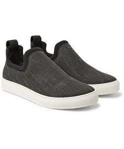 James Perse | Zuma Neoprene-Trimmed Canvas Slip-On Sneakers