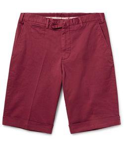 Isaia | Stretch-Cotton Twill Shorts