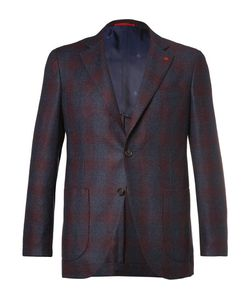 Isaia | Slim-Fit Checked Super 120s Wool Blazer