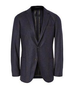 Richard James | Navy Spirit Unstructu Checked Wool Blazer Midnight