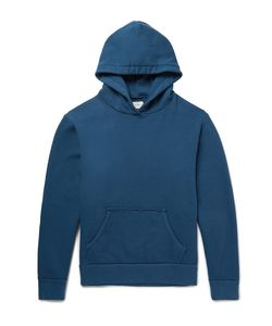 Simon Miller   Raw-Edged Loopback Cotton-Jersey Hoodie