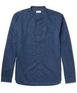 Sunspel | Grandad-Collar Cotton And Linen-Blend Shirt