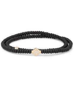 Luis Morais | Onyx And Diamond Wrap Bracelet