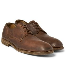 Guidi | Distressed Leather Derby Shoes