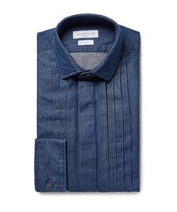Richard James | Pintucked Washed Cotton-Chambray Shirt