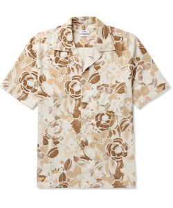 Cmmn Swdn | Camp-Collarprint Slub Silk Shirt