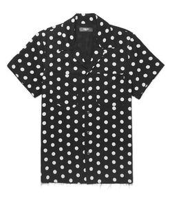 Amiri   Camp-Collar Polka-Dot Twill Shirt
