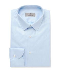 Canali | Slim-Fit Herringbone Cotton Shirt