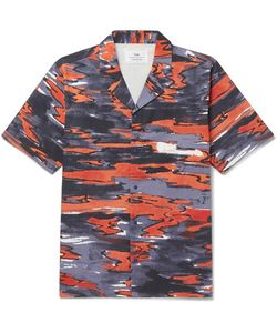 Folk | Goss Brothers Setting Sun Camp-Collar Printed Cotton-Twill Shirt