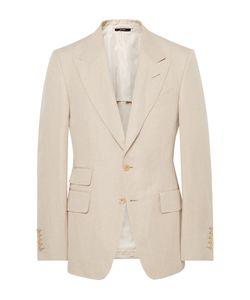Tom Ford   Shelton Slim-Fit Silk And Linen-Blend Suit Jacket