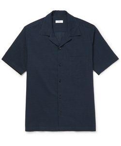 Cmmn Swdn | Camp-Collar Striped Cotton And Silk-Blend Seersucker Shirt