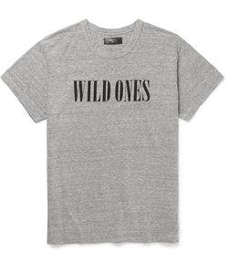 Amiri | Printed Brushed Mélange Jersey T-Shirt