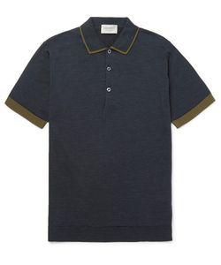 John Smedley | Nailsea Contrast-Tipped Merino Wool Polo Shirt