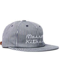 Maison Kitsuné | Embroidered Striped Cotton-Twill Baseball Cap