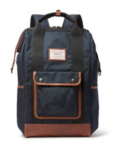 Master Piece | Master-Piece Gabatte Leather-Trimmed Cordura Backpack