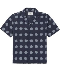 Folk | Camp-Collar Printed Linen And Cotton-Blend Shirt