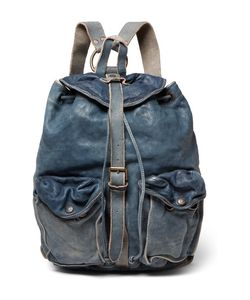 Rrl   Riley Washed-Leather Backpack