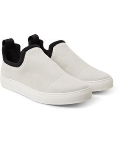 James Perse | Zuma Neoprene-Trimmed Brushed-Canvas Slip-On Sneakers