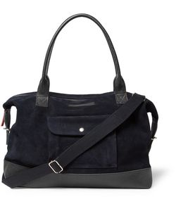 Oliver Spencer | Pebble-Grain Leather-Trimmed Suede Holdall