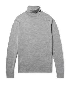 John Smedley | Cherwell Mélange Merino Wool Rollneck Sweater