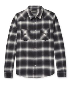 Amiri | Slim-Fit Checked Cotton-Blend Flannel Shirt