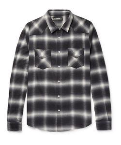 Amiri | Slim-Fit Checked Cotton-Blend Flannel Shirt