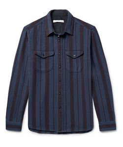 Outerknown | Happy Slim-Fit Striped Organic Cotton-Twill Shirt