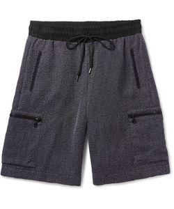 John Elliott | Slim-Fit Mélange Woven Drawstring Shorts