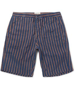 Oliver Spencer | Striped Cotton-Jacquard Shorts
