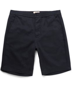 Oliver Spencer | Brushed-Cotton Twill Drawstring Shorts