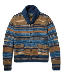 Rrl | Shawl-Collar Striped Cotton-Blend Cardigan