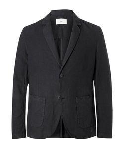 Folk   Unstructured Linen And Cotton-Blend Blazer