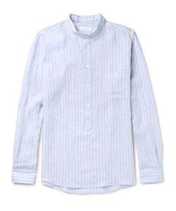 Richard James | Slim-Fit Grandad-Collar Striped Linen Shirt