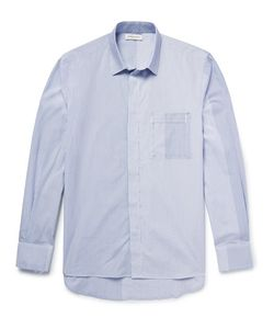 Public School | Kit Raw-Edged Striped Cotton-Poplin Shirt