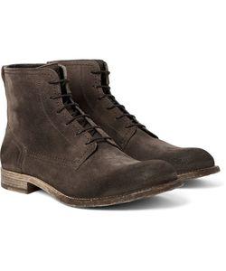 Belstaff | Alperton Burnished-Suede Boots