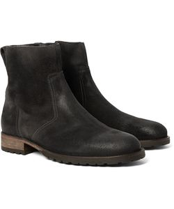 Belstaff | Attwell Burnished-Suede Boots