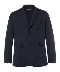 Kapital   Hobo Distressed Cotton-Jersey Blazer