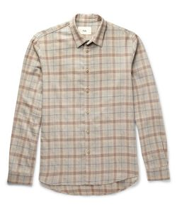 Folk   Checked Cotton And Wool-Blend Shirt