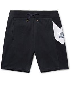 Moncler Gamme Bleu | Slim-Fit Chevron-Detailed Cotton-Jersey Shorts