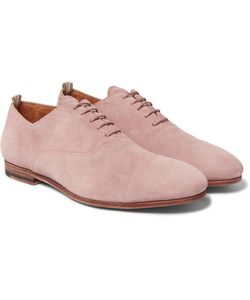 Officine Creative | Cap-Toe Suede Derby Shoes