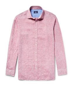 Hackett | Slim-Fit Slub Linen Shirt
