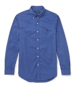 Polo Ralph Lauren   Slim-Fit Button-Down Collar Washed-Cotton Shirt