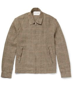 Our Legacy | Houndstooth Linen-Tweed Blouson Jacket