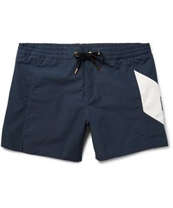 Moncler Gamme Bleu | Chevron-Detailed Short-Length Swim Shorts